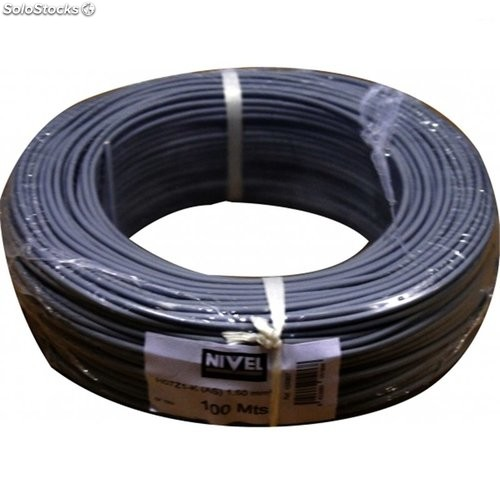 Cable Hilo Flexible H07Z1-K Libre Halogeno 1,50 Negro 100Mt