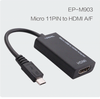 Cable mhl para Galaxy S3/S4/Note2 Micro-11PIN usb al adaptador hdmi