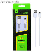 Cable Micro usb,1A, 3m