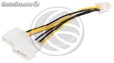 Cable molex 2x4Pin-m a pci-express 6Pin-h (Mini-Fit:4.20 Pitch) (VP13-0002)