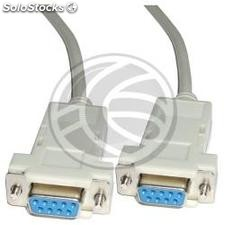 Cable Null-Modem Series 3m pos (DB9-m/h) (NM32)