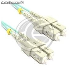 Cable OM3 de fibra óptica SC a SC multimodo duplex 50/125 de 5m (FY35)