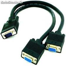 Cable pc nanocable cable bifurcador svga 15M/ 2*15H 45 cm