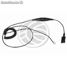 Cable Plantronics QD to RJ9 with standard phone volume (KG74)