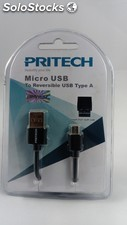 Cable reversible micro usb pritech cc-951