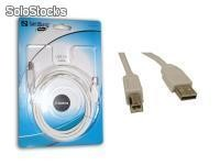 Cable Sandberg.it informatique usb 2.0 a-b 2m saver - Promotion Exceptionnelle