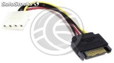 Cable sata power to molex 4PH 15cm 3:00 p.m. (DL24)