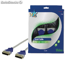 Cable Scart Scart Male - Scart Male Gris