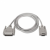 Cable serie null-modem nanocable 10.14.0802 - 1x db9 hembra - 1x