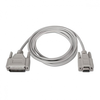 Cable serie null-modem nanocable 10.14.0802 - 1x DB9 hembra - 1x DB25 macho -