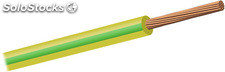 Cable unipolar libre de halogenos h07z-k seccion 6mm2 color verde-amarillo