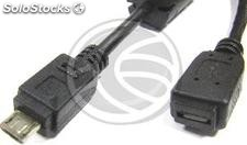 Cable usb 2.0 (MicroUSB-m Tipo b a MicroUSB-h Tipo a y b) 3m (UR04)