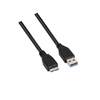 Cable usb 3.0 nanocable 10.01.1102-bk - conectores usb tipo a / micro usb tipo b
