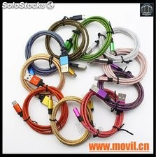Cable USB 8 Pines 2 en 1 datos de Carga Cable USB para iPhone 5 5c 6 6s