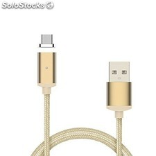 cable usb a micro usb 5 pines (carga & transferencia) metal oro 1m biwond