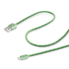 Cable usb-microusb textil green