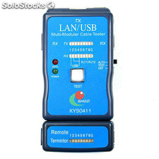 Cable usb, RJ45 y RJ11 Cable Tester