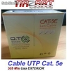 Cable Utp Cat 5e Exterior Intemperie Caja 305 Metros 24 Awg