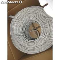 Cable utp gris cal 24 cat 6 305MTS para interiores