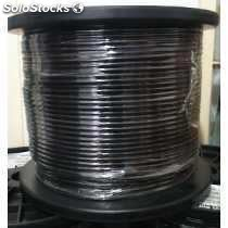 Cable utp p/exteriores cat 5 ecolor negro cal. 24 300 mts