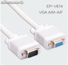 Cable VGA 15Pin AM/AF cable VGA para pantallas cables al por mayor.