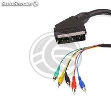 Cable Video rgb Scart 5xRCA (m/m) 1.8m (GB31)