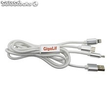 Cables para moviles iphone, micro usb y tipo c