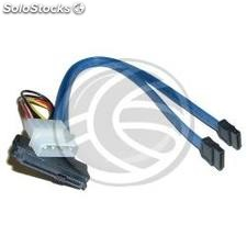Cabo 2 x SATA2 + power para SAS 29pin (7 Pin +14 a sff-8482) 100 cent (AS46)