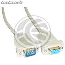 Cabo Null-Modem Series 15m (DB9-m/h) (NM15)