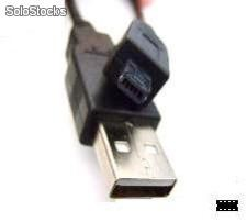 Cabo usb a macho x mini usb b macho 08 pinos quadrado - 1,80 mts