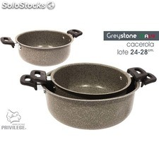 Cacerola 2 uds 24-28CM/1MM greystone - privilege - 8433774601043 - BE06012560104