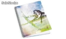 Caderno Espiral c/pp A4 120F Light Bolt