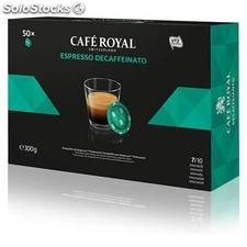 Café royal descaffeinato 50 cápsulas compatibles nespresso pro - cafe royal -