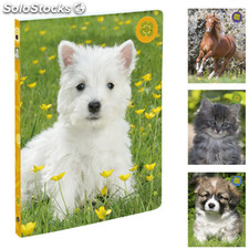 Cahier classeur A4 animaux