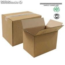 Caisse Carton Simple Cannelure 30 à 40 cm 35 x 25 x 10 cm