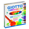 caja 24 uds rotulador turbo color giotto, punta super resistente de 2.8 mm, tint