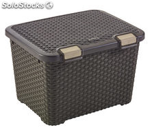 Caja con tapa 43 l style chocolate 500X400X330MM
