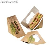 Caja craft para sándwich triangular