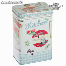 Caja de metal azul kitchen - Colección Kitchen's Deco by Bravissima Kitchen