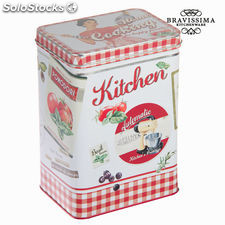 Caja de metal roja kitchen - Colección Kitchen's Deco by Bravissima Kitchen