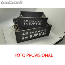 Caja juego de 3 - all you need is love - b and b - 8430026942299 - 59033