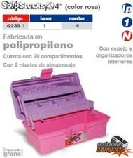 Caja multiusos vanity 14 color rosa