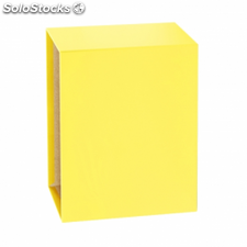 Caja para archivador folio 75mm. amarillo - grafoplas