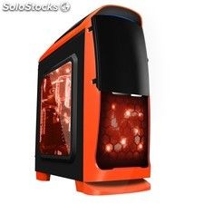Caja sobremesa coolbox gaming deep sting ii orange edition . atx usb 3.0