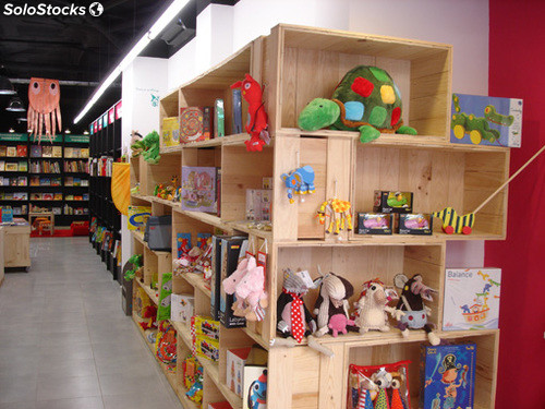 Cajas madera para stands tiendas decoracion for Articulos decoracion