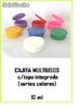 Cajita multiusos c/tapa integrada 10ml (varios colores)