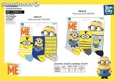 Calcetines Minions 3 unidades