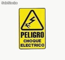 Calcomania peligro choque electrico