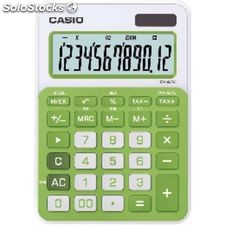 Calculadora Casio sobremesa ms-20NC 12 digitos Verde Pilas ms-20NC vr