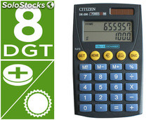 Calculadora citizen bolsillo de-200 euro 8 digitos doble pantalla negra en